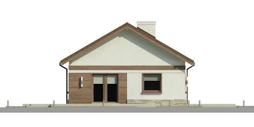 Dom przy Przyjemnej 15 bis - Elewacja lewa