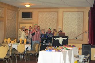 "Photo: Table Six ""karaokes"" the crowd.  Many people head to bar."
