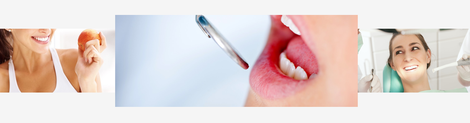 a patient with their mouth open during a dental check