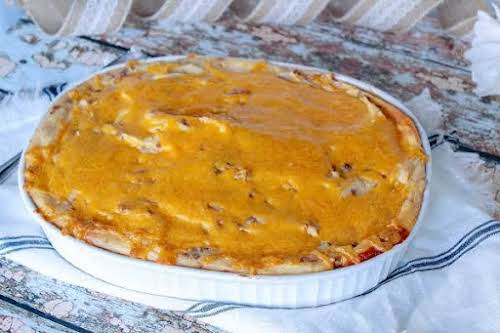 "Hearty Hamburger Pie""Put this hearty casserole in your recipe box because, after..."