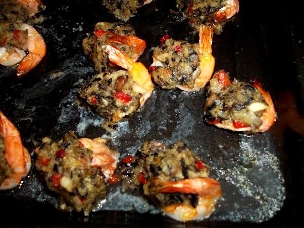 Bake for 10 -15 minutes or until shrimp turn pink and filling is hot.  Sprinkle...
