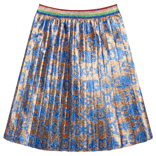 Primary image of Gucci Pleated Glitter Skirt