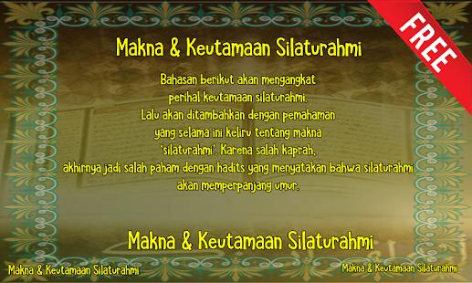 Makna & Keutamaan Silaturahmi - náhled
