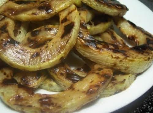 "Grilled Zucchini Rings ""This is a great way to use up those..."