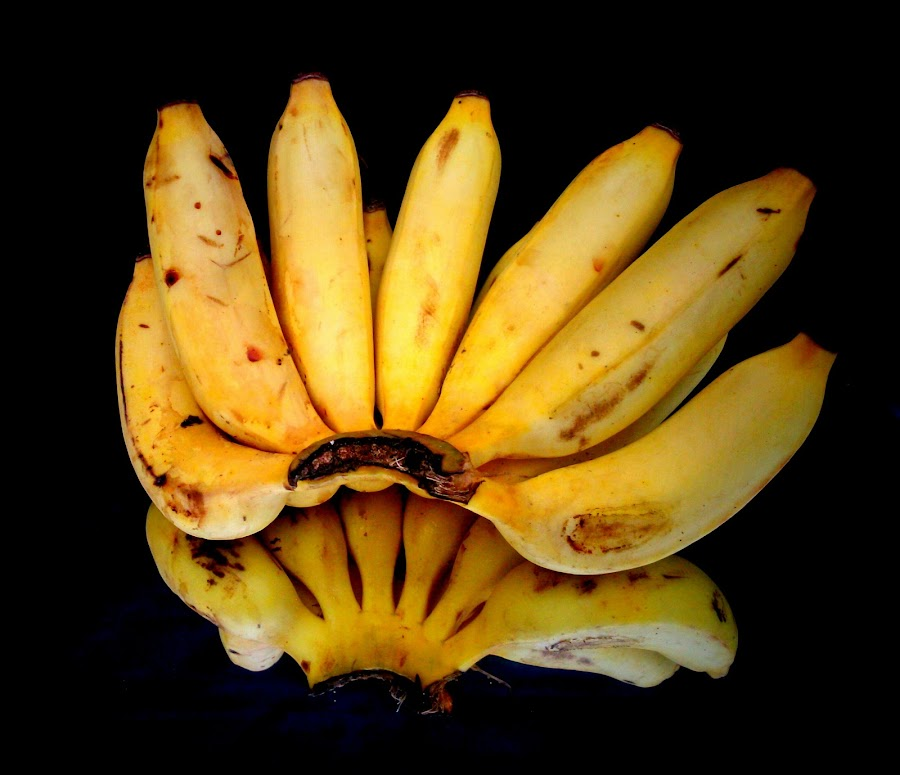Banana by Prince Frankenstein - Food & Drink Fruits & Vegetables ( reflection, bananas, ripe, photography, mobile,  )
