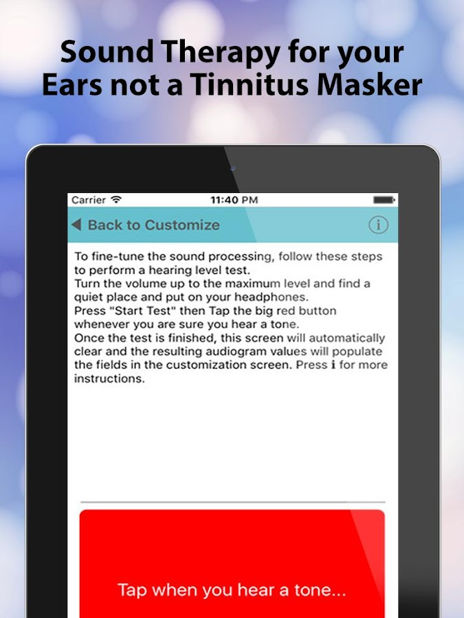 Tinnitus Alleviator- screenshot