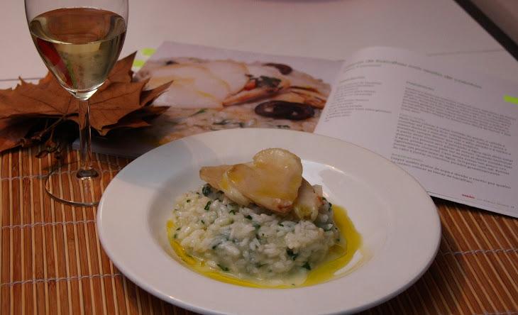 Cod Chips with Cilantro Risotto Recipe