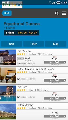 Hotels price Equatorial Guinea