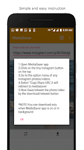 SaveMedia for Instagram media - náhled