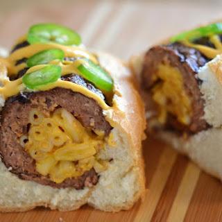 The Mac and Cheese Stuffed Burger Dog.
