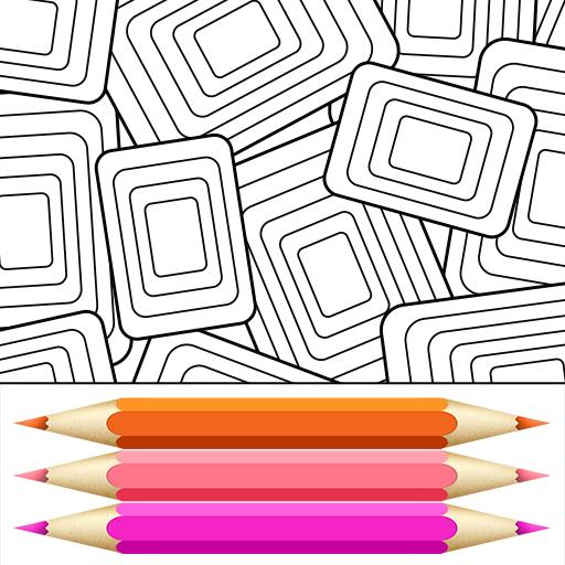 几何着色页 休閒 App LOGO-硬是要APP