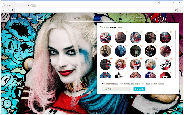 Harley Quinn & Suicide Squad Wallpaper NewTab