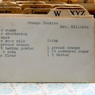 Orange Cookies by Mrs. Millikin.