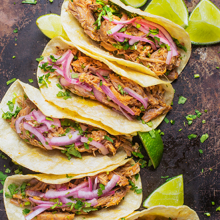 Gloria'S Slow Cooker Pork Tacos with Pickled Onions Recipe