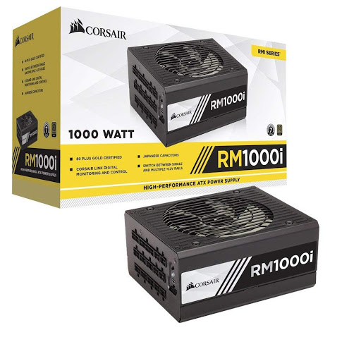 Nguồn/ Power Corsair RM1000i - 80 Plus Gold - Corsair Link - Full Modul