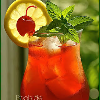 Poolside Cranberry-Cherry Iced Tea Cocktail.