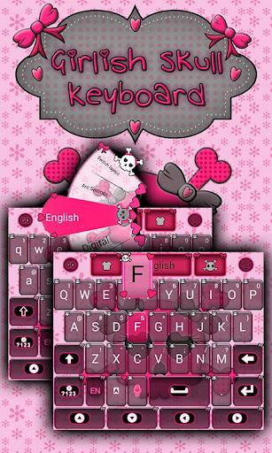 Girlish Skull Keyboard Theme