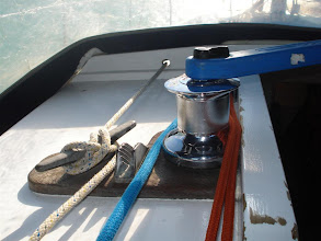 Photo: The Port cabin winch is used for hauling up the mainsail