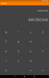 Simple Calculator Screenshot