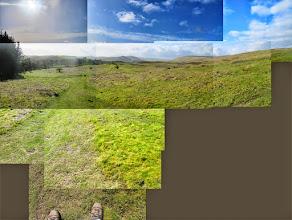 Photo: Dartmoor, looking back down towards Honeybag Tot and Widecombe.