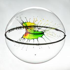Bubbled by Ganjar Rahayu - Abstract Water Drops & Splashes ( waterdrop )