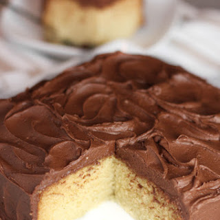 Old Fashioned Yellow Cake with Easy Chocolate Frosting