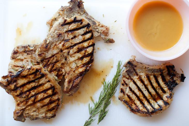 Dijon Rosemary Bone-in Ribeye Pork Chops Recipe