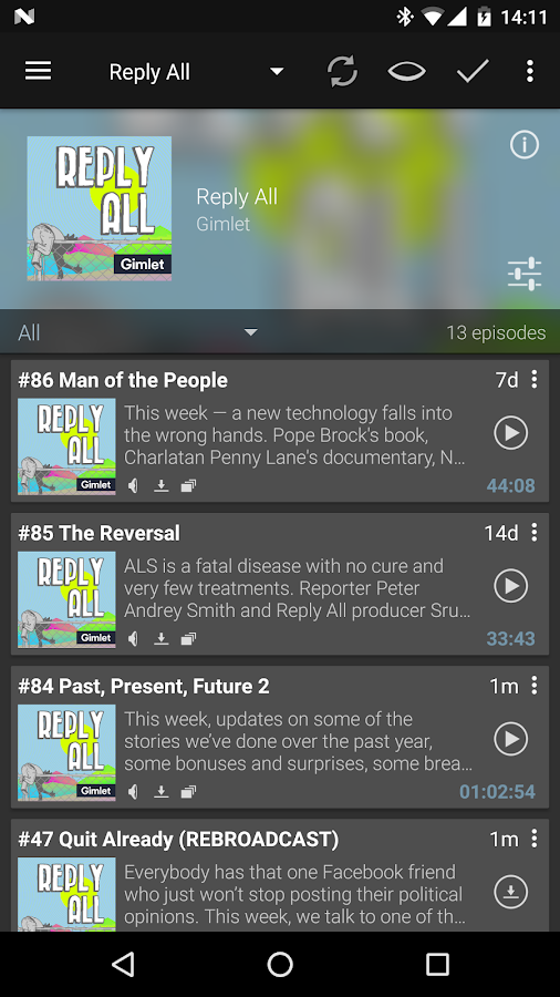 Podcast Addict - Donate- screenshot