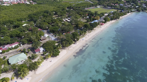 le-marin-drone-footage5.png - Drone footage of the beach in Le Marin, Martinique, taken during a sailing on Silver Spirit.