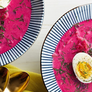 Chilled Beet Soup With Buttermilk, Cucumbers, and Dill (Chlodnik)