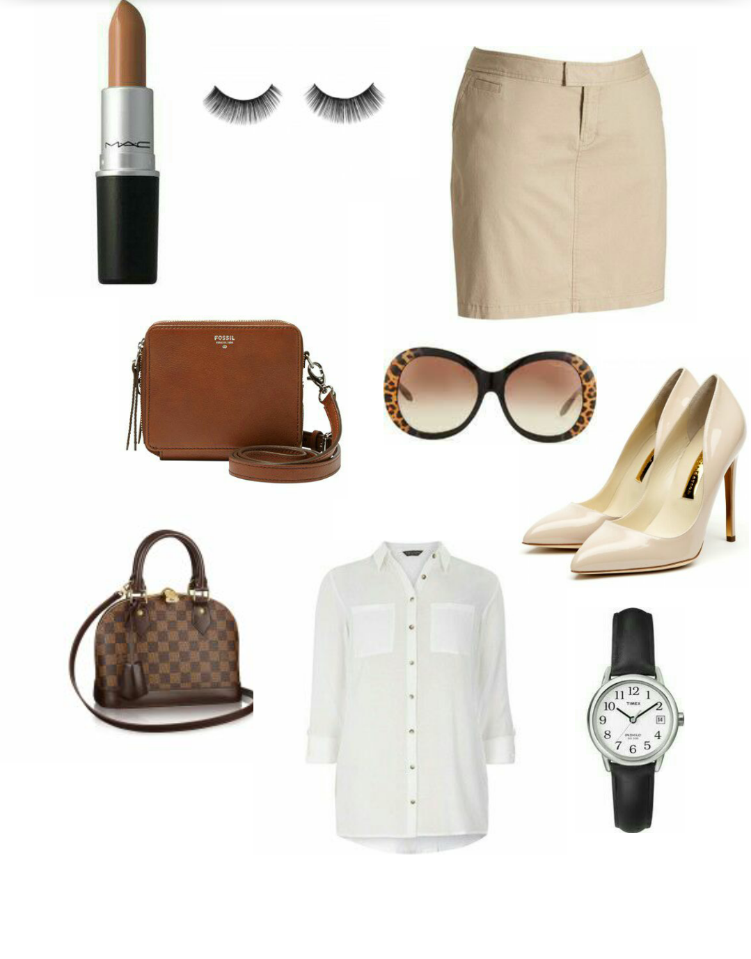 e1ac78016a STYLE THE LOOK: White shirt and mini khaki skirt - Inspired By Mo'Cheddah!
