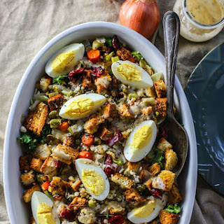 Gluten Free Stuffing Salad with Sweet Onion Dressing