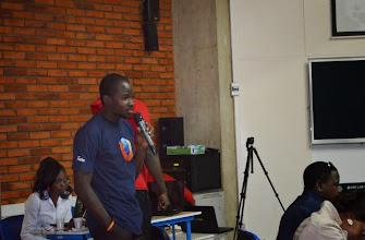 Photo: Présentation de la communauté Mozilla BF par e lead Tinto Jean