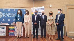 Representantes de las instituciones en la presentación del proyecto 'Almería unida contra la Violencia de Género'.