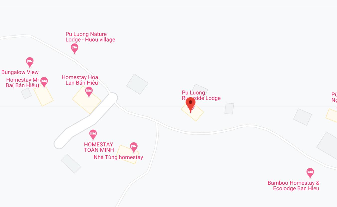 Địa điểm đón/trả khách tại Pù Luông