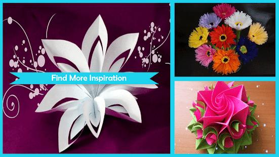 Cool paper flower craft aplikasi di google play gambar screenshot mightylinksfo