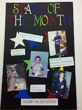 "Photo: One of my managers, Leigha, came up with an idea to have a ""Star of the month"" at work.. and my name was drawn to be first.  Since we weren't going to be open for Easter, I was already up on the backroom wall during our closing shift."