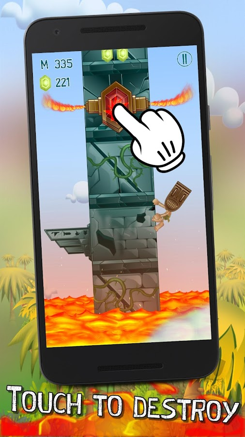 Tappy Tiki - Endless Climber- screenshot