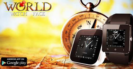 World Time Analog Watch Face