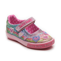 Lelli Kelly Rainbow Heart Shoe KID CANVAS