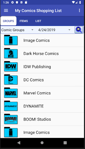 PC u7528 My Comics Shopping List 1