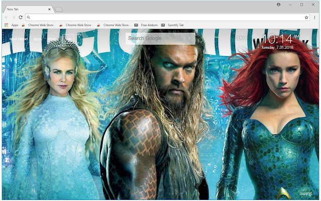 Aquaman HD Wallpapers DC Comics New Tab