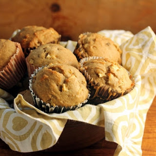 Apple Raisin Walnut Spice Muffins