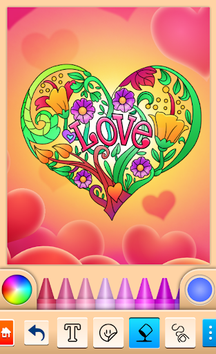Valentines love coloring book 13.9.6 screenshots 2
