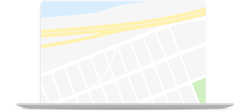 browsing google maps in a laptop