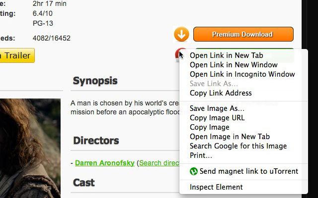 uTorrent Link Sender