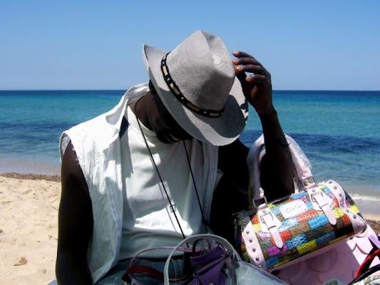 Sulla spiaggia di adele