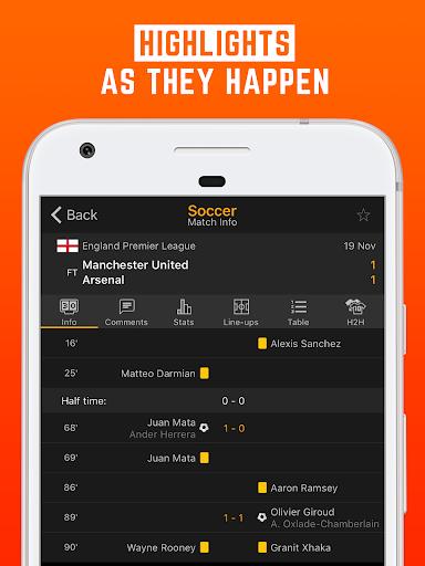 LiveScore: Live Sport Updates 3.0.9 screenshots 2
