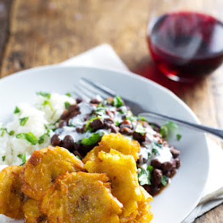 Puerto Rican Fried Plantains with Rice and Beans Recipe