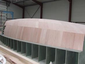 Photo: préparation du moule de coque - état au 1.12.2008